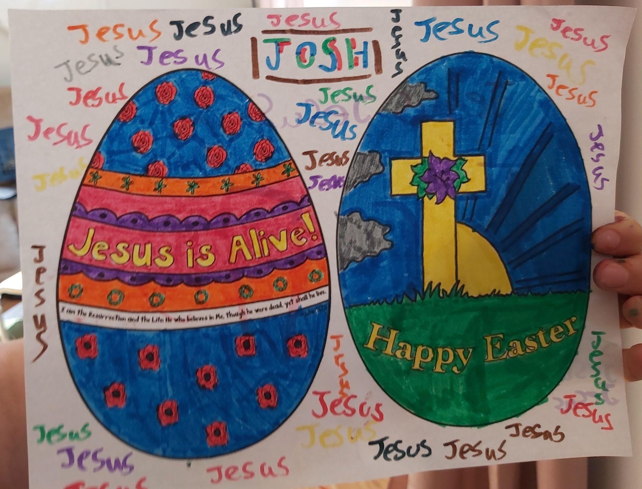 Josh's colouring page